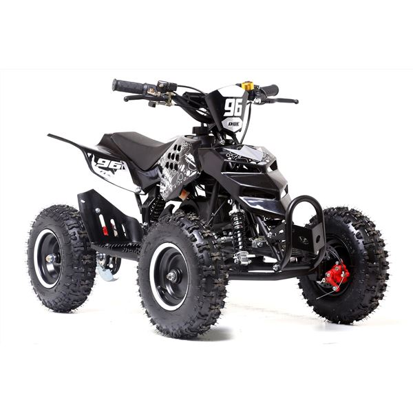 funbikes 49cc black kids big wheel mini quad bike. Black Bedroom Furniture Sets. Home Design Ideas