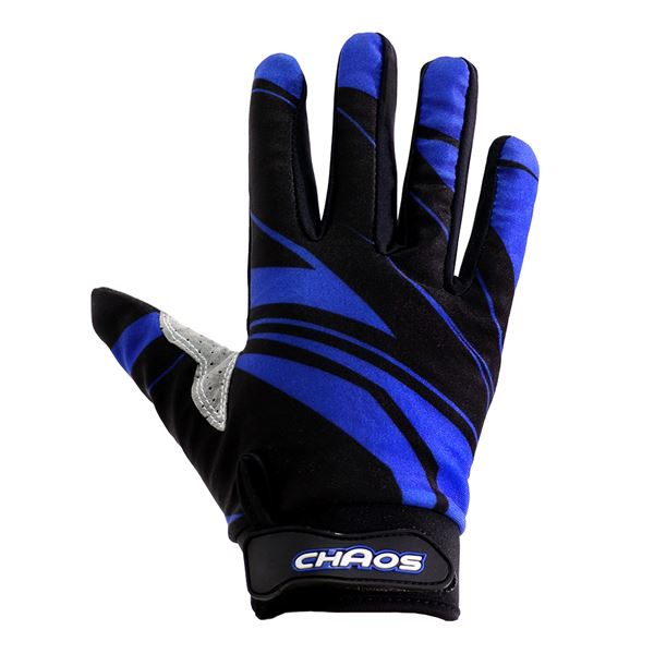 Chaos Adult Motorbike Quad Bike Motocross Gloves Blue