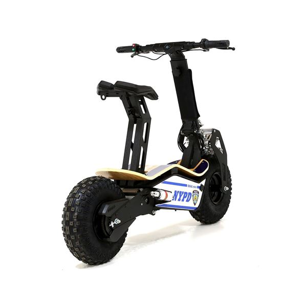 Velocifero MAD 48 Volt 1600W Lithium Battery NYPD Blue Electric Scooter