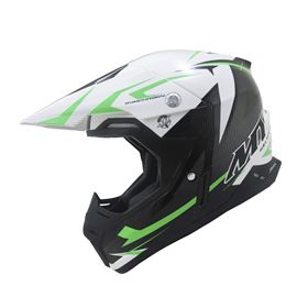 MT Synchrony Steel Crash Helmet Green