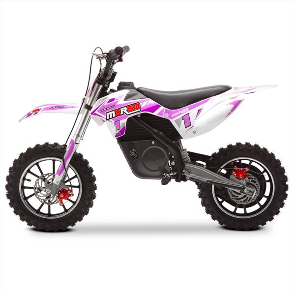 FunBikes MXR 61cm Pink Electric Kids Mini Dirt Motorbike