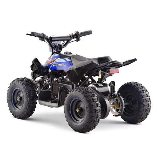 FunBikes Toxic 800w Black Blue Kids Electric Mini Quad Bike V2