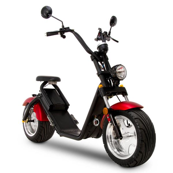 Funbikes Road Legal Red Electric Fat Wheel Cruiser Scooter