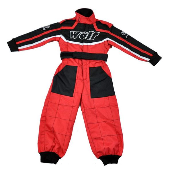 Wulfsport Cub Racing Suit Red