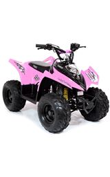 FunBikes Tino Rally 90cc Pink Childs Quad Bike