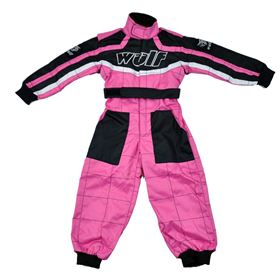 Wulfsport Cub Racing Suit Pink