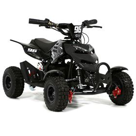 FunBikes 800w Black Electric Kids Mini Quad Bike