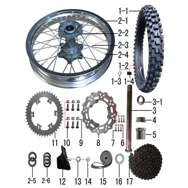 M2R M1 250cc Dirt Bike 520 Drive Chain