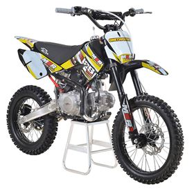 M2R Racing KM125MX 125cc 17/14 86cm Yellow Dirt Bike