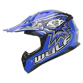 Wulfsport Junior Flite Xtra Kids Crash Helmet Blue