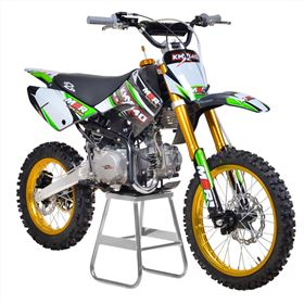 M2R Racing KMX140 140cc 17/14 86cm Green Carbon LE Dirt Bike