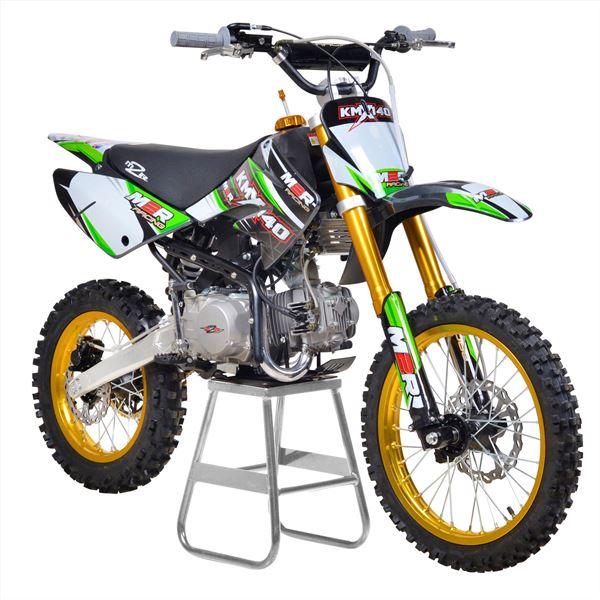 m2r racing kmx140 140cc 17 14 86cm green carbon le dirt bike. Black Bedroom Furniture Sets. Home Design Ideas