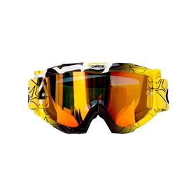Chaos Kids MX Goggles Yellow Black
