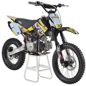 M2R Racing KM140MX 140cc Petrol 17/14 86cm Yellow Dirt Bike