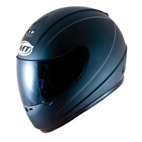 MT Thunder Solid Crash Helmet Matt Black