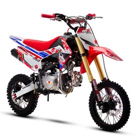 M2R Racing RF140 140cc 14/12 82cm Red Blue Pit Bike