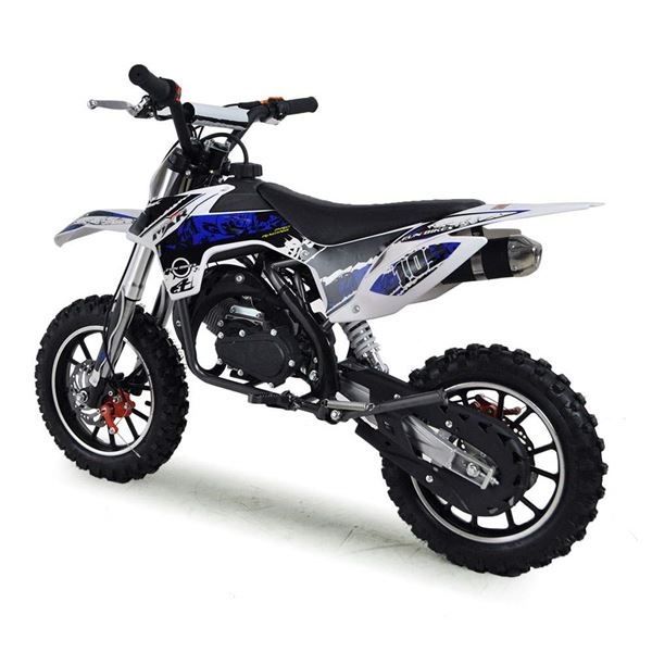 FunBikes MXR 50cc 61cm Dark Blue Kids Mini Dirt Motorbike