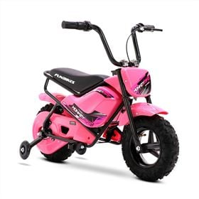 FunBikes MB 43cm Motorbike 250w Pink Electric Kids Monkey Bike
