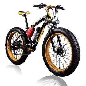 Electric Fat Bike 36V 350W Lithium Yellow
