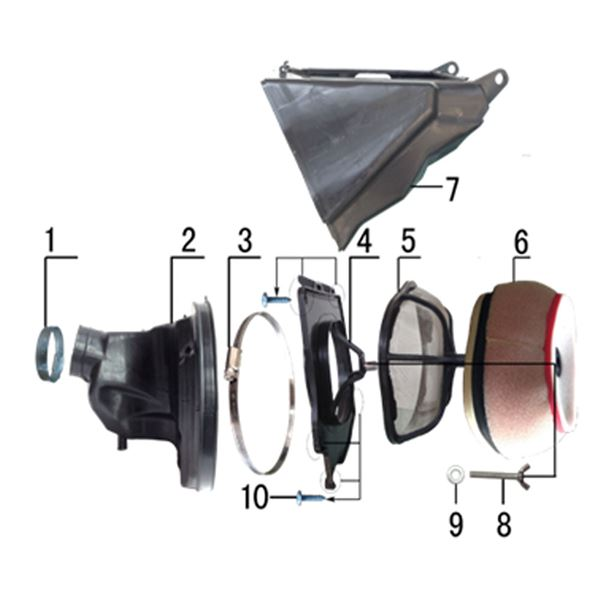 M2R M1 250cc Dirt Bike Air Filter Butterfly Screw Washer