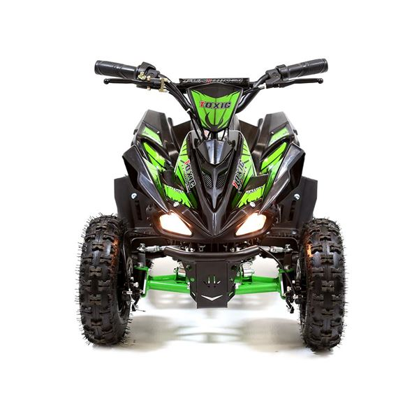 FunBikes Toxic 800w Black Green Kids Electric Mini Quad Bike