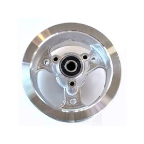 "Powerboard Scooter Front 4"" 3 Spoke Silver Rim"