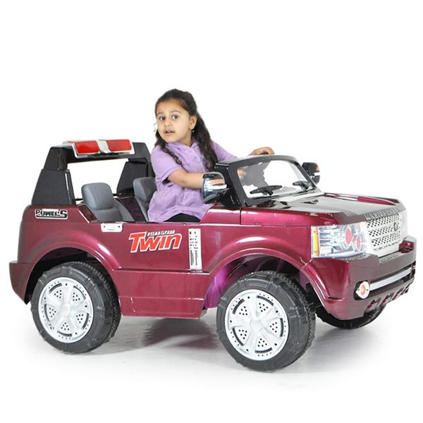 FunBikes Range Rover Style Red Electric Ride 4X4 SUV