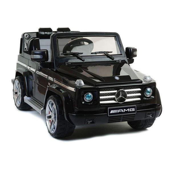 mercedes licenced g55 amg black electric ride on 4x4 suv. Black Bedroom Furniture Sets. Home Design Ideas
