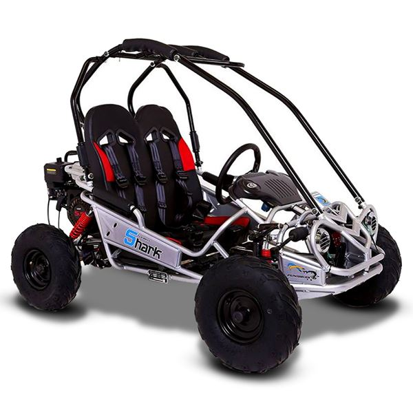 FunBikes Shark RV50 156cc Silver Mini Off Road Buggy