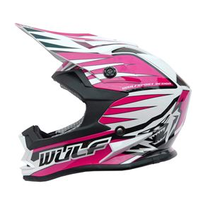 Wulfsport Kids Advance Crash Helmet Pink