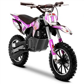 FunBikes MXR 500w Lithium Electric Motorbike 61cm Pink/Black Kids Dirt Bike