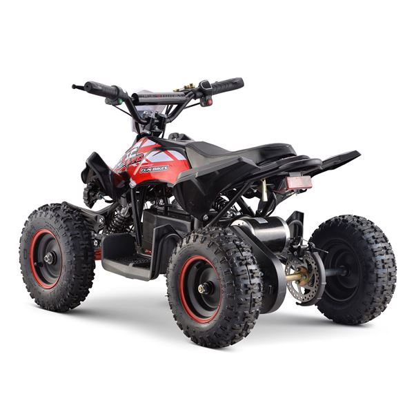 FunBikes Toxic 800w Black Red Kids Electric Mini Quad Bike