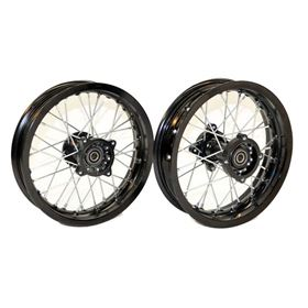 "Pit Bike Motard Supermoto 12"" Wheel Set"