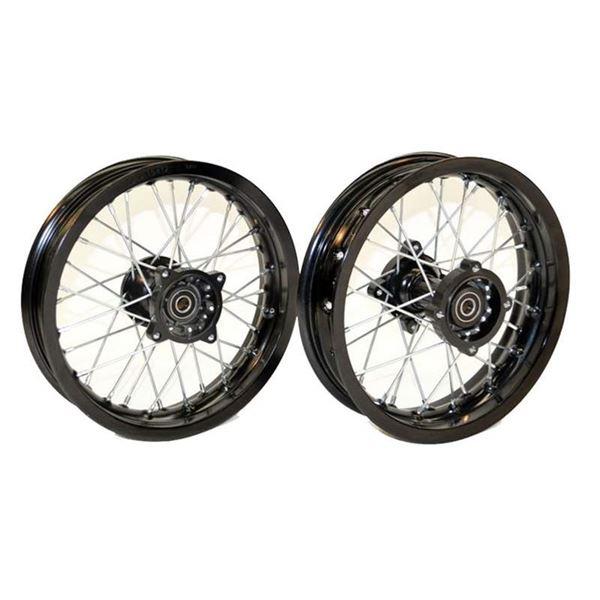 pit bike motard supermoto 12 wheel set. Black Bedroom Furniture Sets. Home Design Ideas