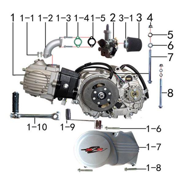 M2R KX110F Pit Bike 110cc Engine