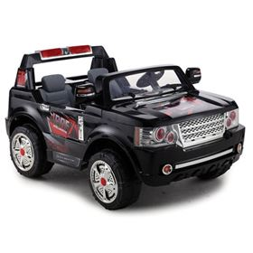 FunBikes Range Rover Style Black Electric Ride 4X4 SUV