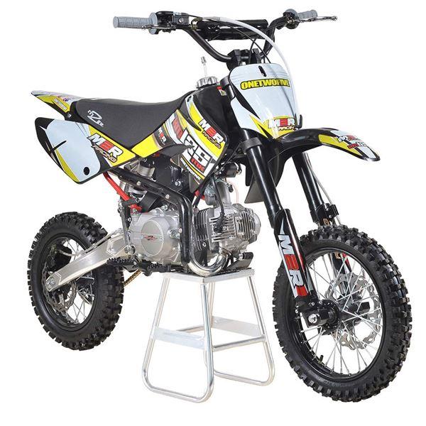 m2r racing km125mx 125cc petrol 82cm yellow pit bike. Black Bedroom Furniture Sets. Home Design Ideas