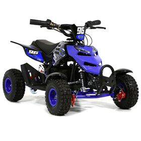 FunBikes 800w Blue Electric Kids Mini Quad Bike