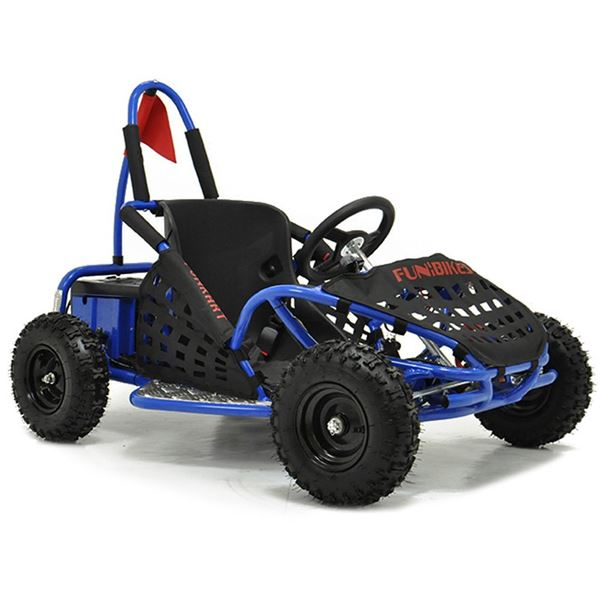 funbikes funkart 1000w electric blue kids mini go kart. Black Bedroom Furniture Sets. Home Design Ideas