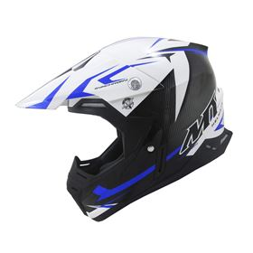 MT Synchrony Steel Crash Helmet Blue