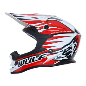 Wulfsport Kids Advance Crash Helmet Red