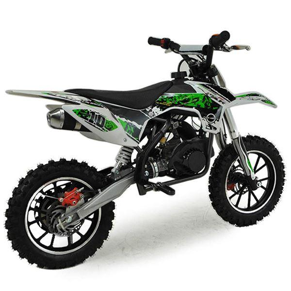 funbikes mxr 50cc 61cm green kids mini dirt motorbike. Black Bedroom Furniture Sets. Home Design Ideas