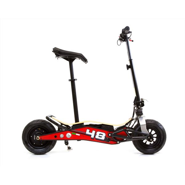 Velocifero MINIMAD 36 Volt 800W Lithium Battery Red Electric Scooter