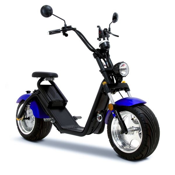 FunBikes Harley Fat Boy Blue Road Legal Electric Scooter