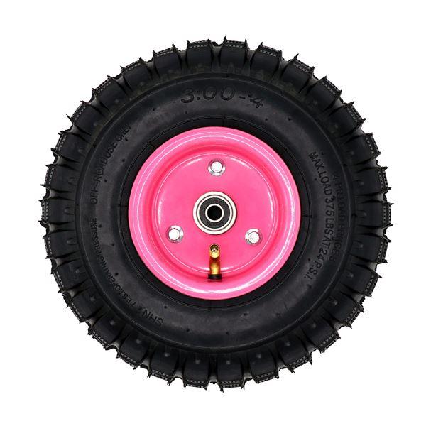 Funbikes 96 Petrol Mini Quad Pink Front Wheel on