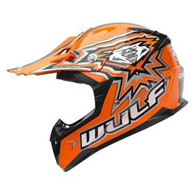 Wulfsport Junior Flite Xtra Kids Crash Helmet Orange