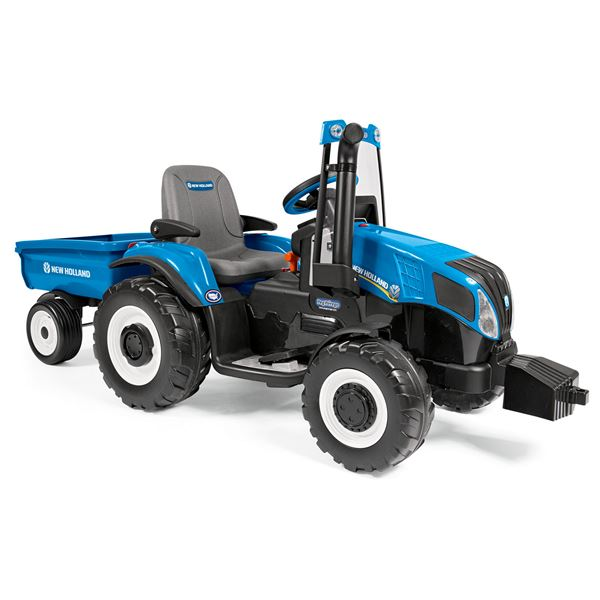 Peg Perego New Holland T8 12v Ride On Tractor With Trailer