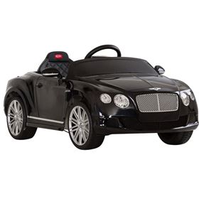 Licensed Bentley Continental GT 12v Black Electric Ride On Car
