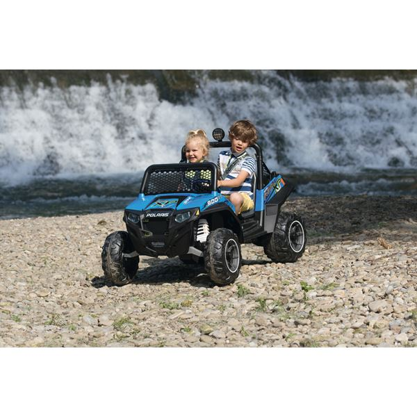 Peg Perego Polaris Ranger RZR 900 Blue Kids Off Road 12v Ride On Quad