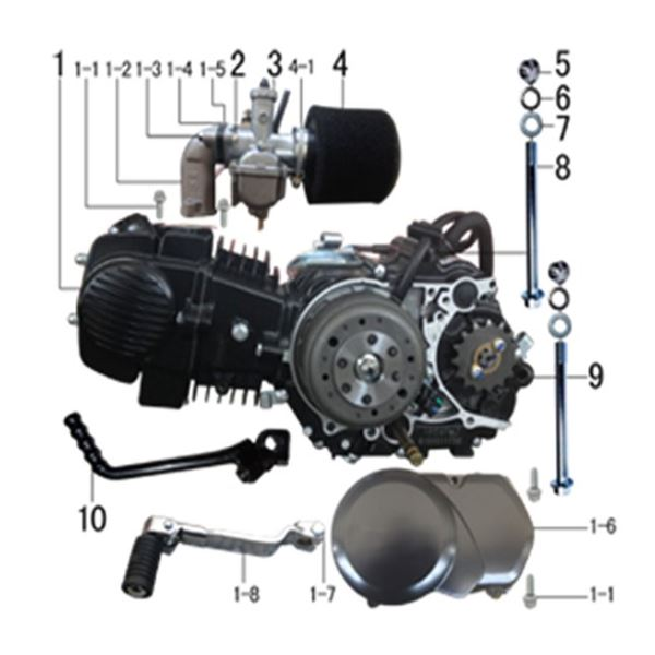 M2R RF125 S2 Pit Bike 125cc Air Cooled Engine